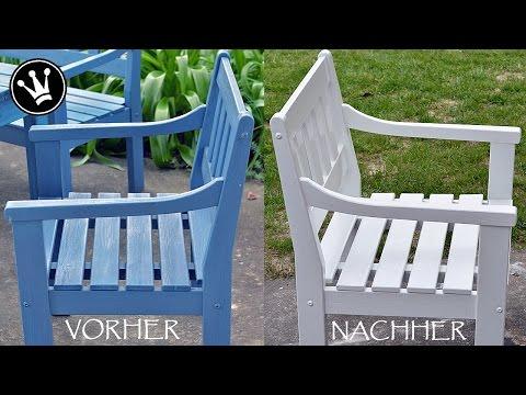 ❤-lichen DANK / DIY - Gartenmöbel/Outdoormöbel Weiß streichen /Vorbereitung und Anstrichaufbau