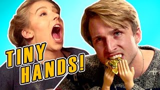 TINY HANDS CHALLENGE (Squad Vlogs)