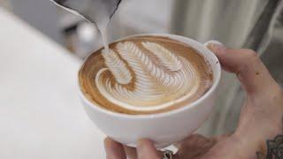Do you like latte art? ☺️|Collection of practice video|basic |Rosetta|Tulip|Milk Steaming| cafe vlog