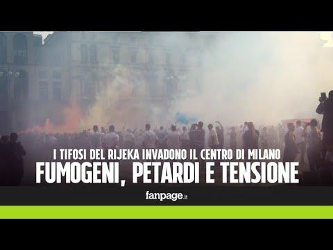 Milan-Rijeka, fumogeni, petardi e ultras fermati in piazza Duomo