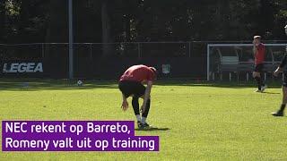 NEC rekent op Barreto, Romeny valt uit op training