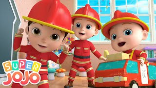 I Want To Be A Firefighter | Fire Truck + More Nursery Rhymes & Kids Songs - Super JoJo