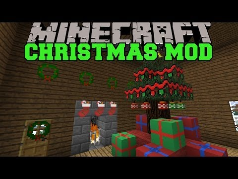 Minecraft: CHRISTMAS MOD (SANTA GIVES YOU PRESENTS, DECORATIONS AND FOOD) Wintercraft Mod Showcase