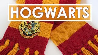 How to Knit a Harry Potter Scarf in Gryffindor Colors