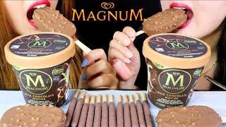ASMR MOCHA MAGNUM ICE CREAM + COFFEE HAAGEN DAZS ICE CREAM + TIRAMISU POCKY 리얼사운드 먹방 | Kim&Liz ASMR
