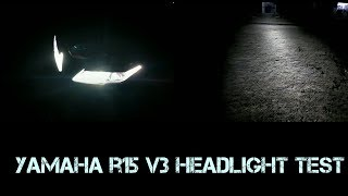 r15 v3 headlight test at night - Free video search site