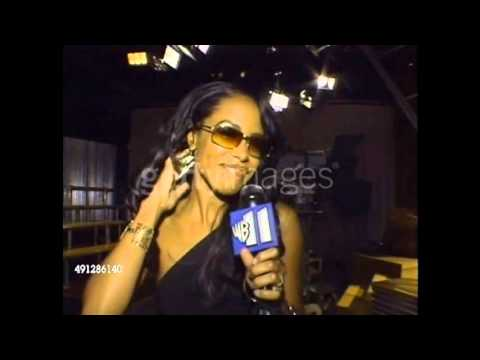 Aaliyah Backstage at BET Networks