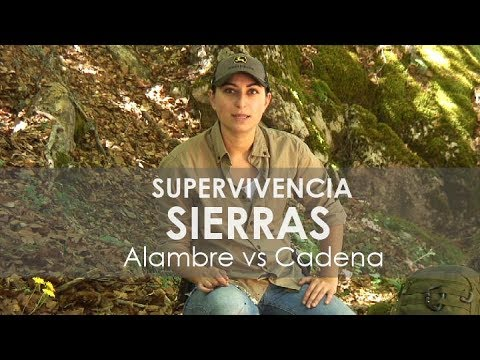 Sierras de supervivencia o bushcraft de alambre o cable y de cadena o chainsaw manual Test y review