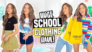 BACK TO SCHOOL CLOTHING HAUL 2018! Forever 21, Urban Outfitters, H&M + more!
