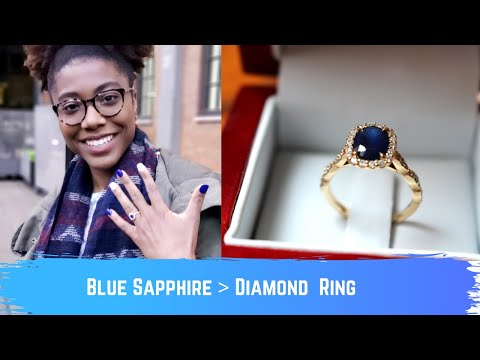 Why I Chose a Blue Sapphire over a Diamond | Engagement Ring Details