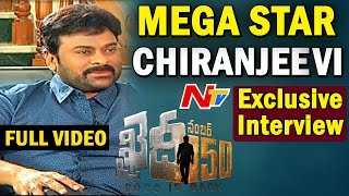Megastar Chiranjeevi Exclusive Interview  Khaidi No 150  BossIsBack  Full Video