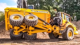 Dumper & excavator by VOLVO playing! What a CRAZY ACTION!!!