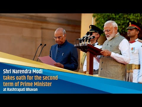 Shri Narendra Modi takes oath for the second term of Prime Minister at Rashtrapati Bhavan