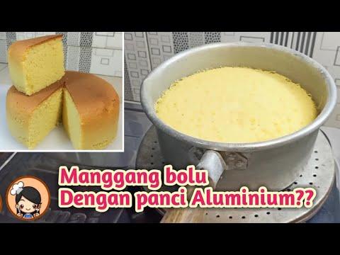 Cara panggang bolu hanya dengan panci aluminium, Super lembut(bolu susu)
