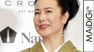 名取裕子、万年筆が似合う著名人に選出「ドラマでも使いたい」「万年筆ベストコーディネイト賞2016」表彰式