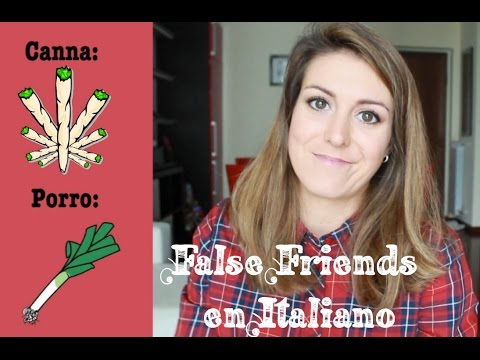 Italiano basico para Principiantes - False Friends en Italiano