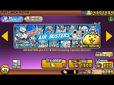 Battle Cats - 45 ROLLS 6300 CAT FOOD on Air Busters!!! (100 SUB