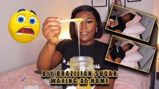DIY BRAZILIAN WAX AT HOME | SUGAR WAX FOR BEGINNERS