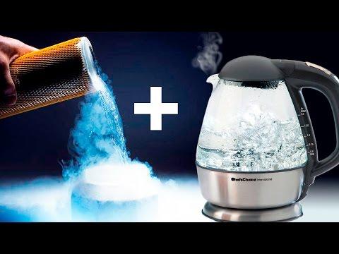 Жидкий азот + Кипяток = ЛАВИНА из тумана!