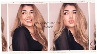 HONEY BLONDE HAIR AT HOME! EASY DIY HAIR COLOR TUTORIAL UNDER 50$ | Chloe Zadori