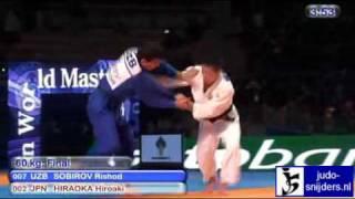Judo 2010 Suwon: Rishod Sobirov (UZB) - Hiroaki Hiraoka (JPN) [-60kg] final.