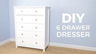 DIY 6 Drawer Tall Dresser | How To Build