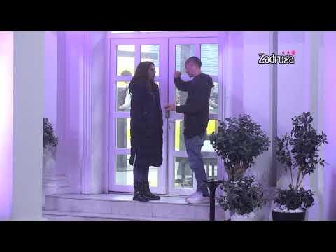Zadruga 3 - Ivana Krunić i Vladimir Adžić se svađaju u dvorištu - 18.11.2019.