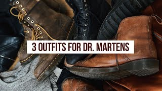 3 Outfit Ideas For Doc Martens Boots | OneDapperStreet | Men's Fashion