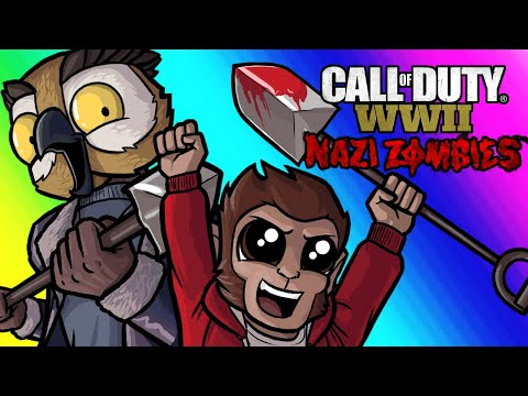COD WW2 Zombies Funny Moments - Easter Egg Hunt and Relentless Lui!