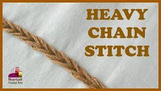 HEAVY CHAIN Stitch | Hand Embroidery #10 - 044