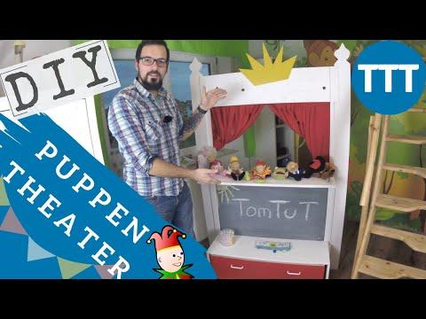 🎭 Puppentheater selber bauen aus Holz DIY