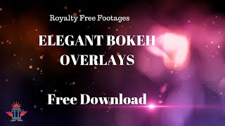 Professional Bokeh effect Overlay with lens Flare | Free light leaks Video | Royalty Free Footages