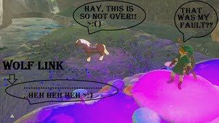 Wolf Link Gets Jealous Of Epona!? Zelda BotW