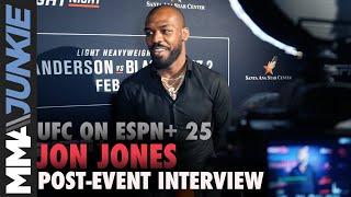 UFC on ESPN+ 25: Jon Jones full post-event interview