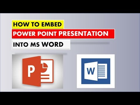 How To Embed PowerPoint Presentation into Microsoft Word