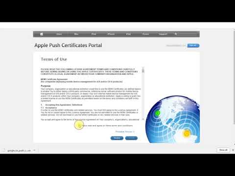 G Suite administrator course - Apple push certificate for iOS device ...