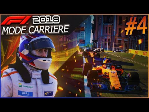 F1 2018 Mode Carrière Part4: Baku | CONTRAT, CRASH & PÉNALITÉ