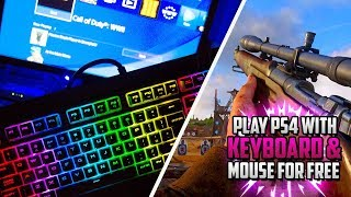 "HOW TO PLAY PS4 USING KEYBOARD & MOUSE! (Use Mouse and Keyboard on PS4!) ""CONNECT KEYBOARD TO PS4!"""