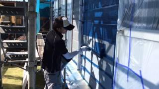 山口県周南市外壁塗装無機塗料KFハイブリッドプライマー塗装