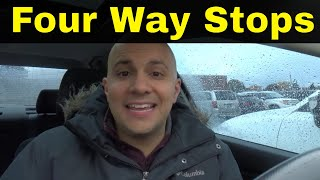 Reason To Fail The Driving Test-Confusion At Four Way Stops