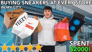 I Bought a Sneaker At EVERY Sneaker Store In My City!