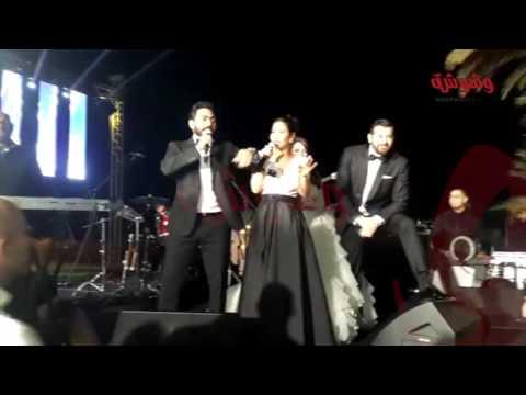 وشوشة | هزار شيرين مع تامر حسني وحماقي في فرح عمرو يوسف وكنده علوش |Washwasha