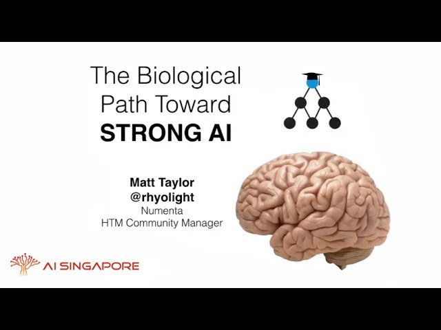 AI Singapore Meetup: The Biological Path Toward Strong AI