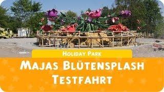 preview picture of video 'Holiday Park - Majas Blütensplash Testfahrt'