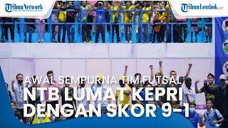 Awal Sempurna Tim Futsal NTB di PON XX Papua 2021, Kalahkan Tim Futsal Kepri dengan Skor Telak 9-1