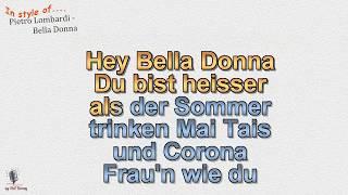 Pietro Lombardi   Bella Donna   Instrumental  Und Karaoke By Rolf Rattay