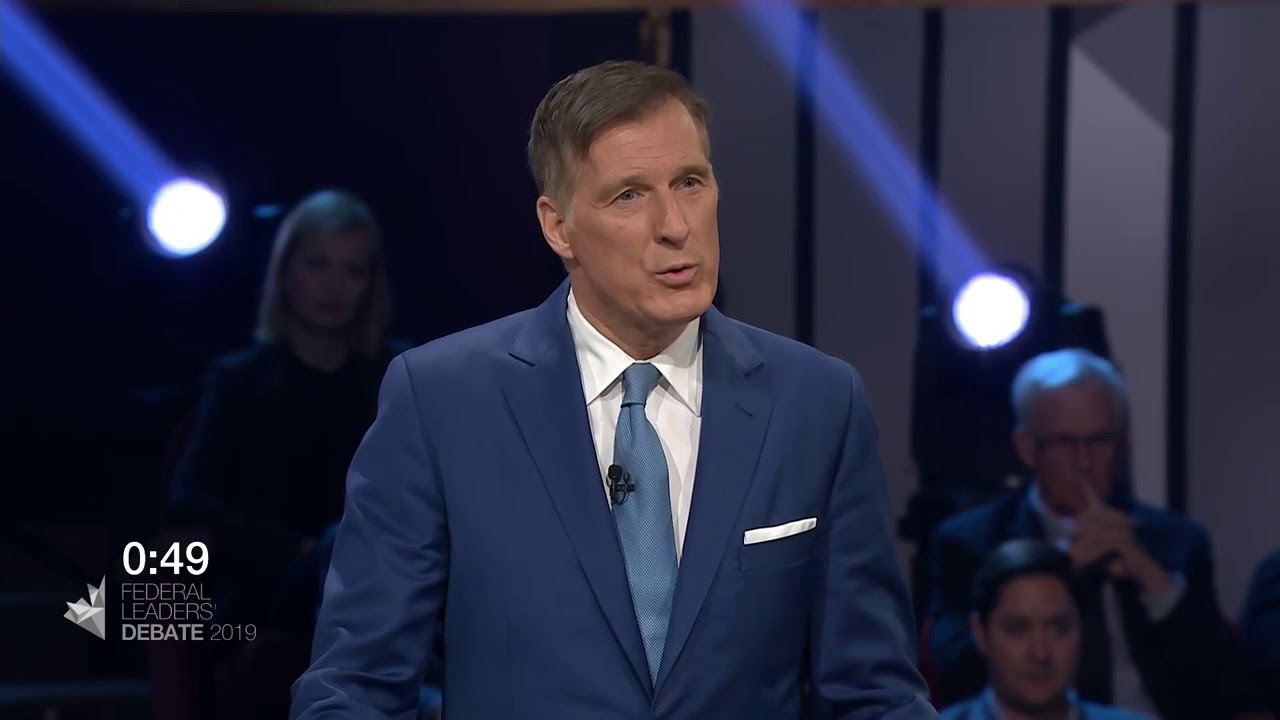 Maxime Bernier answers a question about extremism Canada