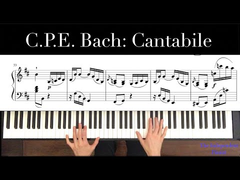 Video number 2 in my Youtube series on CPE Bach's Cantabile.