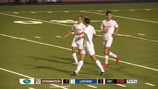 Boys' soccer highlights: Stonington 4, Ledyard 0