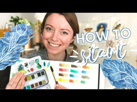 The Very FIRST Watercolor Lesson for Beginners   Watercolor Painting for Beginners - Lesson 1